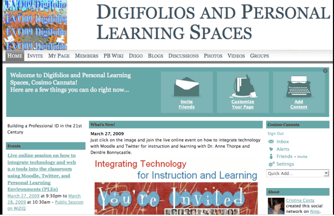Digifolios and Personal Learning Spaces